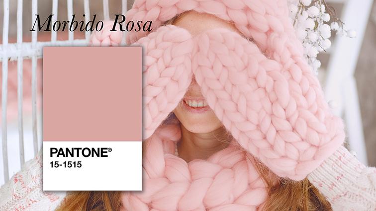colore morbido rosa